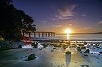 sun rise, beach, new zealand