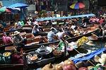 bangkok, thailand, floating market