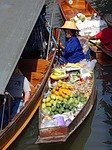 damnoen saduak floating market, thailand, traditional