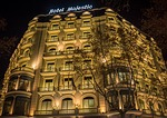 hotel majestic, barcelona, night