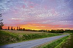sunset, france, dordogne