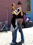tango, couple, dancing