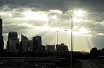 calgary, sunset, downtown