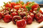 cherry, fruits, red