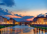 sunset, florence, italy