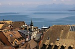 nyon, lake, switzerland