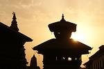 kathmandu, nepal, evening