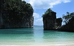koh hong krabi, beach, cliffs