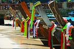 boats, thailand, sand