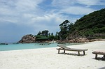 malaysia, beach, palms