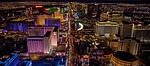 las vegas, aerial view, night
