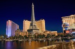 las vegas, paris, night