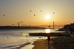 lisbon, bridge, river