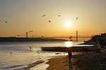 lisbon, bridge, river