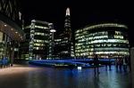 shard, night, city