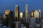 los angeles, skyline, downtown