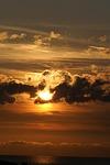 sunset, twilight, dark clouds