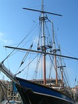 sailboat, marseille, port