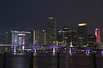 miami, night, city