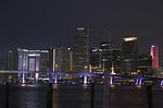 miami, night, city