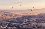 hot air balloon, turkey, aerial