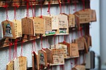 wood, messages, japanese shrine