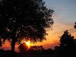 evening sun, afterglow, sky