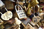 paris, france, love locks