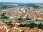 prague, charles bridge, view