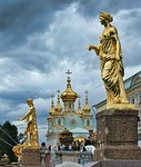 st petersburg, russia, statues