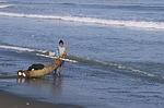 peru, trujillo, reed boat