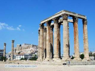 Temple of Olympian Zeus, Athens, greece , athens