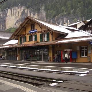 Lauterbrunnen railway station, switzerland , bern