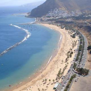 Playa de Las Teresitas, spain , candelaria