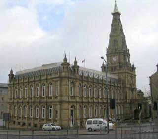 Halifax Town Hall, uk , leeds