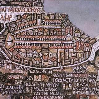 Madaba Map, jordan , madaba