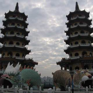 Dragon and Tiger Pagodas, taiwan , pingtung