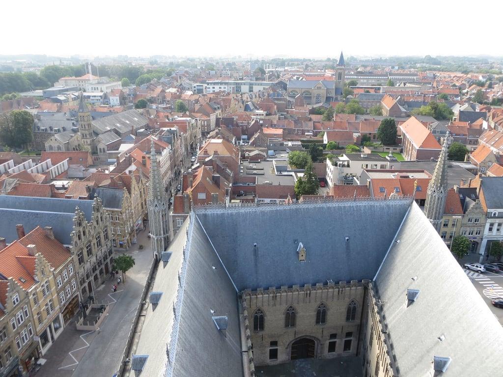 Image of Cloth Hall. belgium ieper ypres flanders belgia