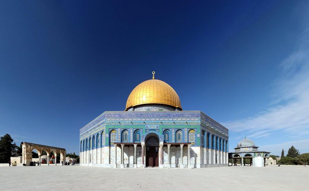 Изображение Купол Скалы вблизи Old City. israel islam jerusalem domeoftherock mosque judaism islamicarchitecture templemount