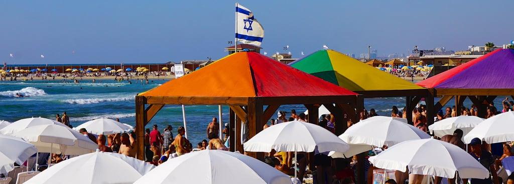 Nordau (Sheraton) Beach || חוף נורדאו (שרתון) Hilton Beach közelében Tel Aviv képe. beach israel telaviv published pride wp rainbowflag tlv hiltonbeach sonye55210mmf4563oss