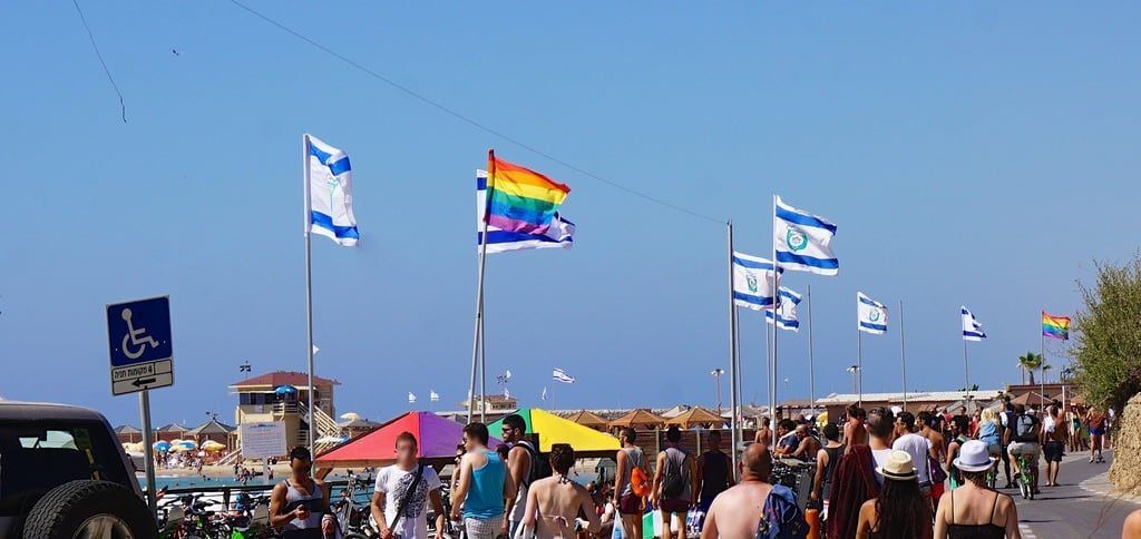 Nordau (Sheraton) Beach || חוף נורדאו (שרתון) Hilton Beach közelében Tel Aviv képe. beach israel telaviv pride rainbowflag tlv hiltonbeach sonye55210mmf4563oss