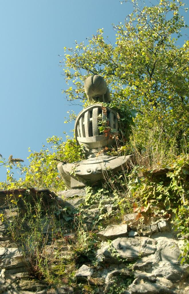 Image of Sint-Baafsabdij. sculpture ruins ghent gent flanders beeldhouwwerk vlaanderen ruïne saintbavoabbey sintbaafsabdij