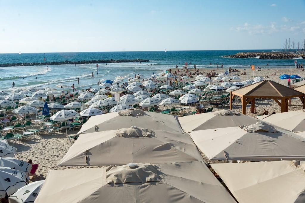 Jerusalem Beach (חוף ירושלים) Jerusalem beach közelében Tel Aviv képe. israel telaviv