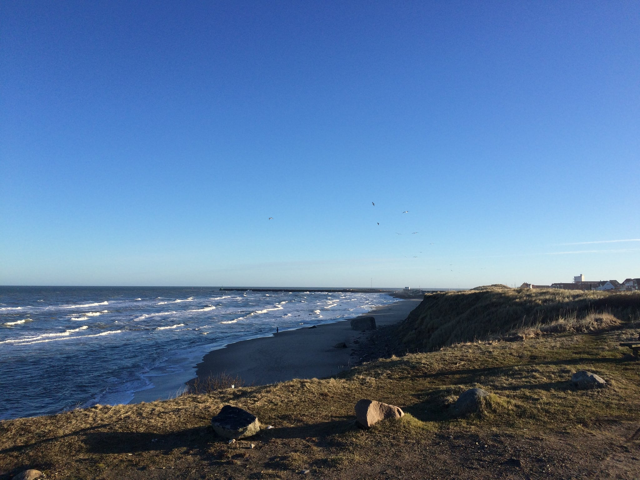 Image of Hirtshals Strand Beach with a length of 1405 meters.