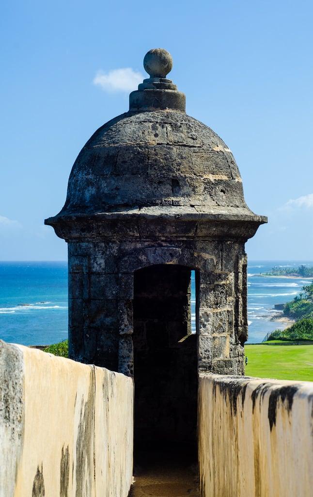 Image of Castillo San Cristóbal near San Juan. puertorico fort sanjuan pr watchtower castillodesancristóbal