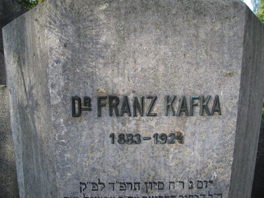 Image of Franz Kafka. cemetery geotagged praha literature franz jewish kafka franzkafka literatura geotagging