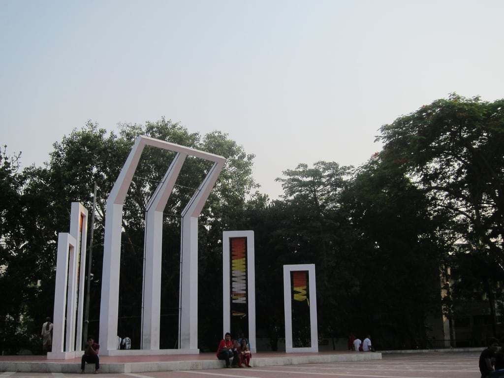 Obraz Shahid Minar. dhaka bangladesh