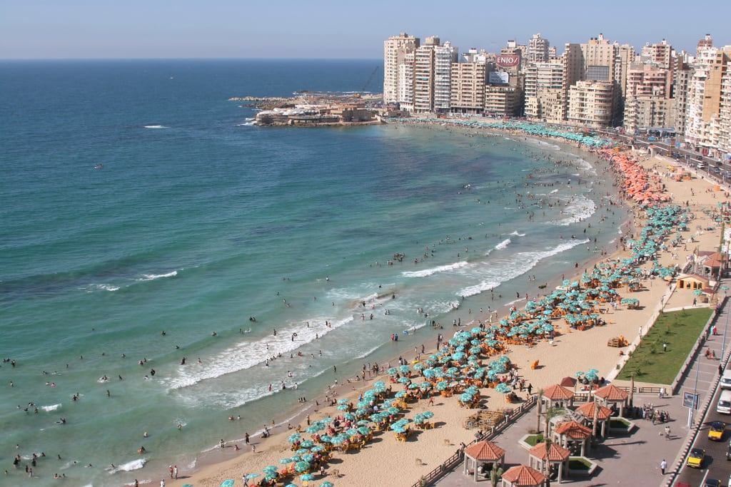 Immagine di Sidi Bishr Beach (شاطئ سيدي بشر) Sidi Bishr Beach. sea beach water alexandria buildings coast mediterranean egypt corniche كورنيش الإسكندرية اسكندريه