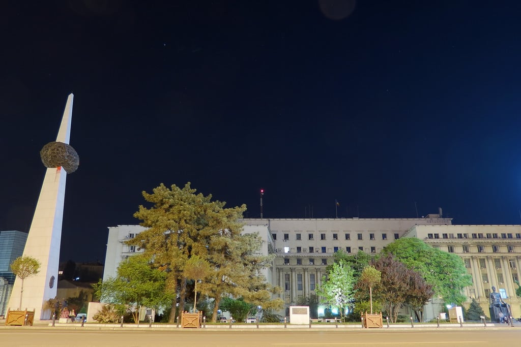 Image of Revolution Square. urban bucureşti bucharest buildings architecture