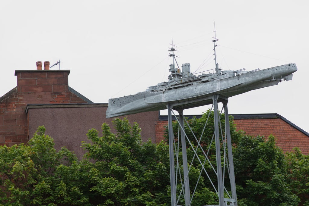 Изображение Beardmore Sculpture. ronmacphotos battleship glasgow beardmoresculpture tommckendrick hmsramillies